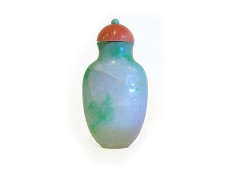 Tabatière en jadéite de couleur verte 2