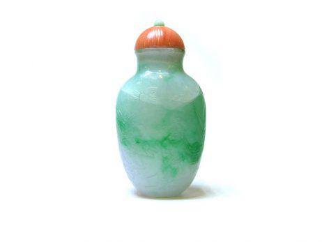 Tabatière en jadéite de couleur verte