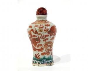Tabatière chinoise en porcelaine de forme meiping
