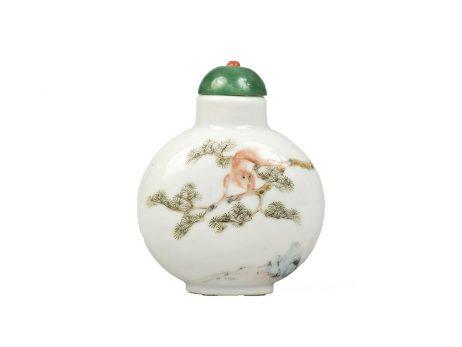 Tabatière chinoise en porcelaine 2