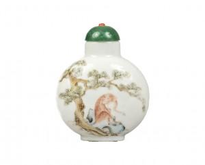 Tabatière chinoise en porcelaine