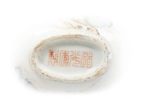 Tabatière chinoise en porcelaine 3
