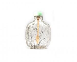 Tabatière en cristal de roche aux épaules arrondies