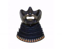 Masque de samourai ou menpo avec du poil de yak, expert art japonais