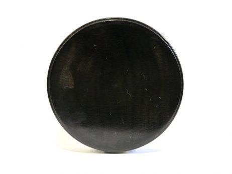 Petit kogo de forme ronde en bois laqué noir 2