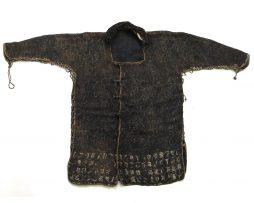 Veste d'armure en soie bleue et cotte de mailles