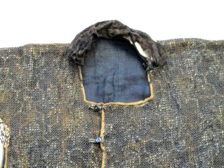 Veste d'armure en soie bleue et cotte de mailles 3