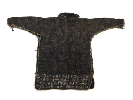 Veste d'armure en soie bleue et cotte de mailles 2