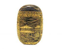 Boites à allumettes en fer incrusté d'or