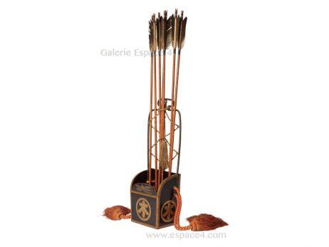 Kari ebira - Carquois japonais et ses flèches 2