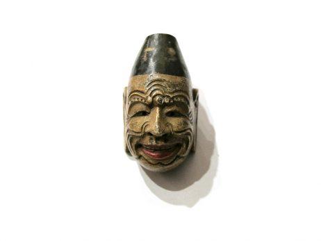 Netsuke en bois - Masque de gigaku