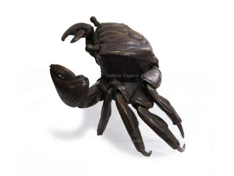 Jizai okimono - Crabe en bronze 3