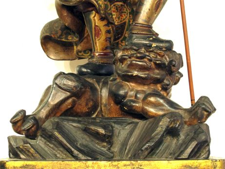 Sculpture de Zochoten en bois polychrome 5