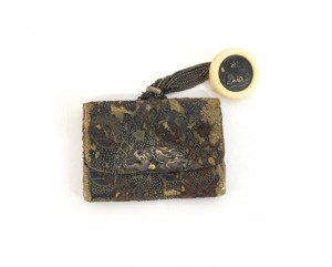 tabako-ire-tabac-japon-pochette-trousse-argent-dragon-or
