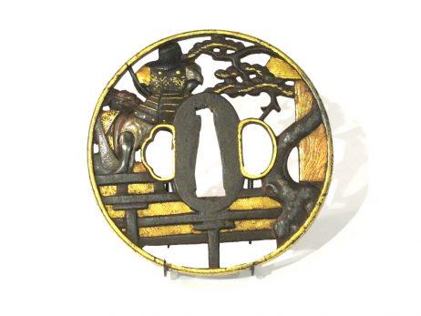 Tsuba - Combat de samourai