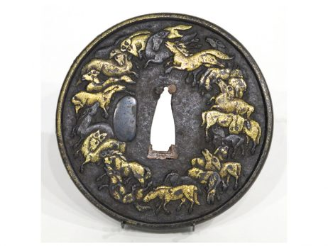 Tsuba - Groupe de chevaux galopant 2