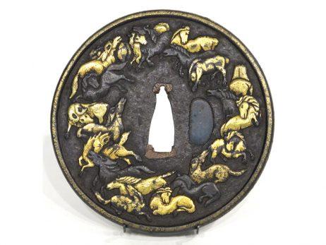 Tsuba - Groupe de chevaux galopant