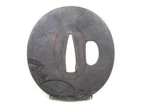 Tsuba décorée des trois Dieux du Bonheur 2