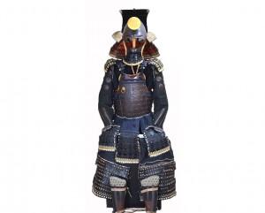 Armure-samourai-odoshi-okegawa-gomai-gusaoku-signee-haruta-tokimune-fer-naturel-casque-kabuto-eventail-gunbai-shikoro-sode-combat-ensemble-japon-japonaise-guerrier-collection-galerie-espace4-armes-samourais-expert-art