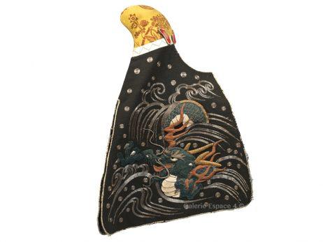 Kajizukin coiffe de femme pompier daimyo dragon brodé