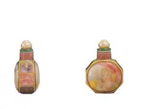 Tabatière en verre émaillé Qianlong