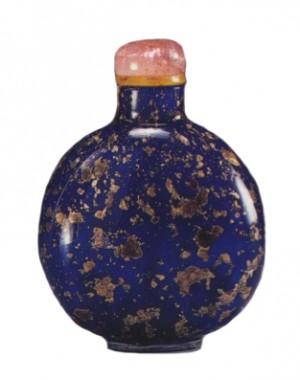 tabatière en verre kangxi imitant le verre de venise