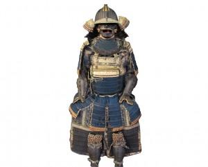 Armure samourai japonaise go mai dos cinq plaques expert art japonais antiquites japonaises