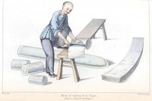 Fabrication papier de riz chine 19ème peintures