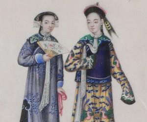 Fabrication papier de riz chine 19ème peintures personnages qing
