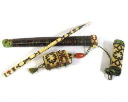 sagemono yatate ivoire emaux japon expert art japonais