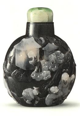 Tabatiere Suzhou chine chinoise agate expertises art chinois