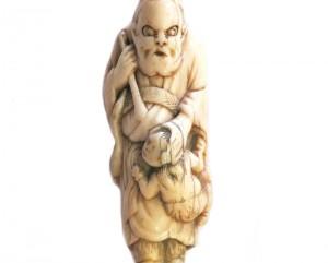 Netsuke ivoire japon japonais collection art galerie asiatique shoki demons enfants