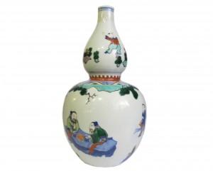 vase chinois porcelaine famille vert cinq couleurs